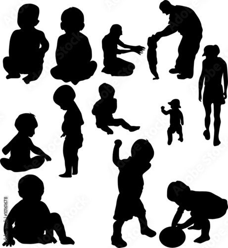 Baby child babies children silhouette