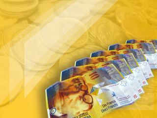 Schweizer Franken auf Gelb