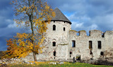 Ruins of the ancient castle Cesis, Latvia. poster
