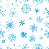 snowfall seamless vector poster