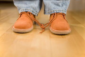 Schuhbänder mit Knoten