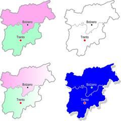 Province Trentino Alto Adige