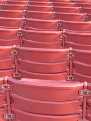 Red seating at the Ballpark