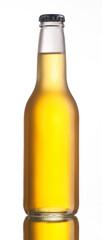 Non-glossy white beer bottle