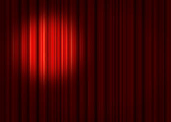 Spotlight on stage curtains