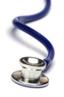 blue stethoscope isolated in white background