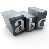 letter abc 2 poster