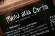 Handwritten menu sign. Blackboard outside italian restaurant - 10177832