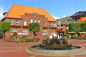 Westerstede, Fußgängerzone, Rathaus