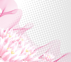 Illustration of nature pink background