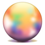 Multicolored sphere