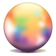 Multicolored sphere