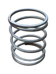 A Large Coiled Metal Spring.