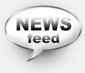 News Feed talk bubble icon with clipping path