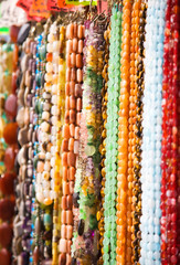 Lots of beads. Shallow dof.