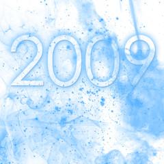 2009 fond poussière bleu