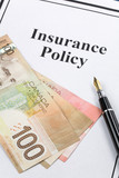 Insurance Policy, Life; Health, car, travel,  for background poster