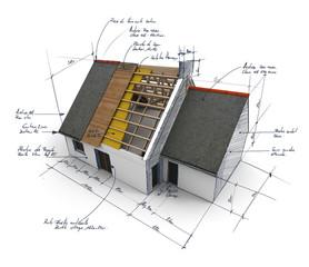 Maison concept A4 croquis