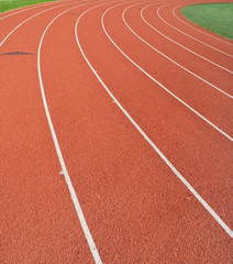 A track used for running, jogging, and track and field events.