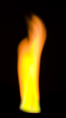 a fire over black background