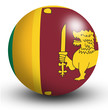 Sri Lanka Flag orb Button Icon