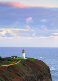 Kilauea Bay lighthouse along the north shore of Kauai, Hawaii