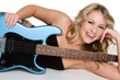 Laughing Guitar Woman