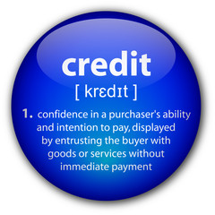"""credit"" definition button"