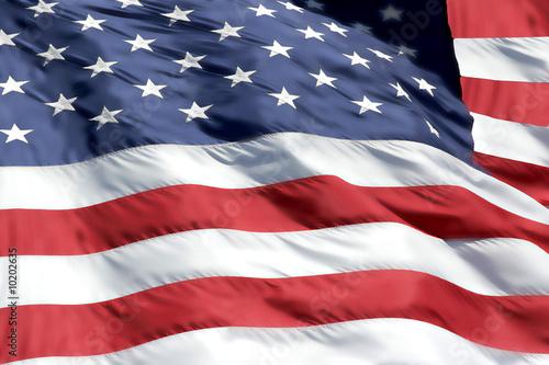Leinwanddruck Bild American Flag