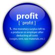 """profit"" button with definition"