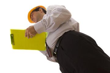 businessman engineer making an inspection