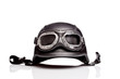 canvas print picture - old-style us army motorcycle helmet with goggles