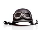 de stil vechi ne motocicleta casca cu ochelari de protecţie armată