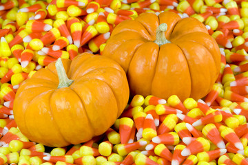 Pumpkins in Candy Corn