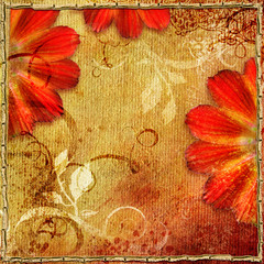 floral background in autumn colors