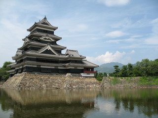 Matsumoto Castle found in Nagano Prefecture of Japan.