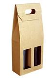 Corrugated cardboard gift wine bottles box poster