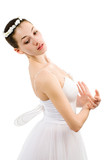 a young wonderful ballerina is dancing gracefully poster
