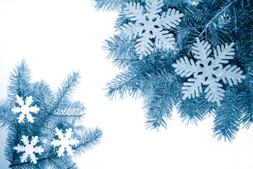 christmas background - duotone blue color