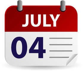Independence Day Calendar Icon
