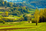 Croatian countryside, Europe. poster