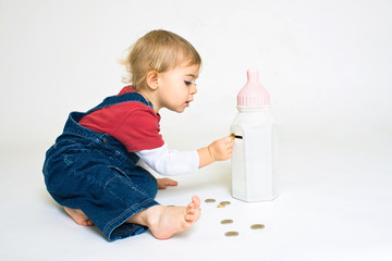 économiser retraite argent monnaie épargner pièce bébé crise