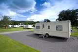 camping and caravan holiday site poster
