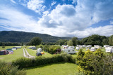 Fototapety camping and caravan holiday site