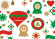 christmas card. felicitacion navidad cool design