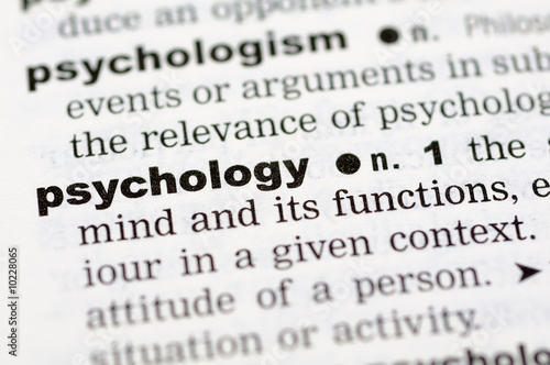A close up of the word psychology from a dictionary