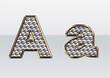 ラインストーンのアルファベット A