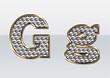 ラインストーンのアルファベット G