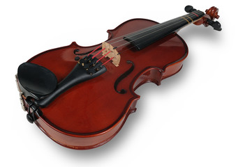 Violin isolated over a white background with path