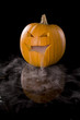 Jack-o-Lantern with mist pouring from it's mouth